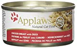Applaws Douille de Blanc de Poulet/Canard pour Chat 70 g- Lot de 24