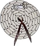 Bodenarbeitsseil Länge 3,2 m| Bodenleine | Führseil mit Bull Snap | Pferdeausbildungsstrick | Western Rope für Horsemanship und Bodenarbeit weiß/schwarz