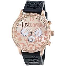 Just Cavalli Damen-Armbanduhr HUGE Analog Quarz Kautschuk R7251127511