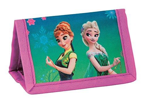 Disney Frozen - Die Eiskönigin Elsa Anna, Geldbeutel Portemonnaie Geldbörse Brustbeutel mit Kordelband, türkis/pink, 12 x 8,5 x 1 cm Disney-frozen-geldbörse