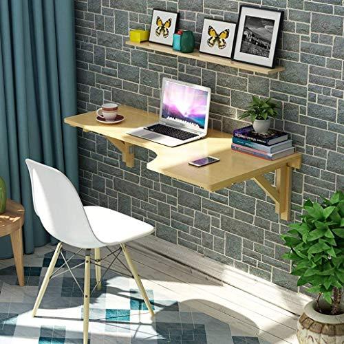 Möbel L-förmige Computer (QiXian Wooden Corner passt zu jedem Raum Computer Tisch Wand Tabelle Faltbare Tabelle L-förmige Tabelle Wand-Laptop Schreibtisch Wand hängen Tisch Lernen Tabelle Größe Optional,80 * 60 cm)