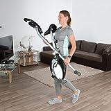 Ultrasport Racer F-Bike, Fahrradtrainer, Heimtrainer, faltbares Fitnessfahrrad mit Trainingscomputer und Handpulssensoren - 6