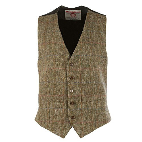 Harris Tweed Herren Weste Gr. 38/Regulär, C001T (Tweed Harris)