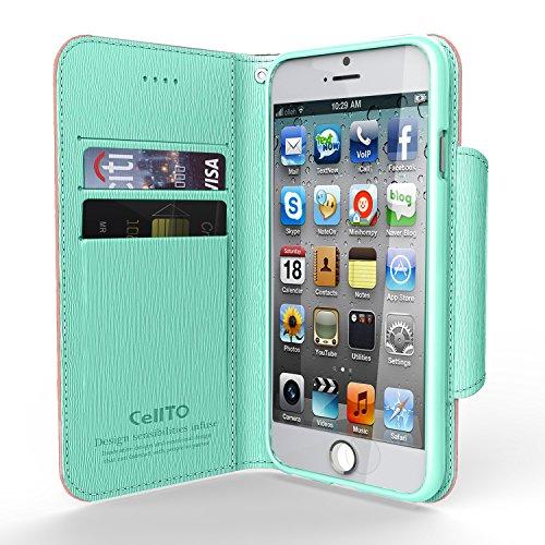 Cellto iPhone 6 Fall [Soft Flexible] Super dünne [0,33 mm] TPU Kasten-Schirm-Schutz ** NEU ** [Precision Fit] Premium-Flex weichen Silikon-Hülle - Einzelhandel Öko-Verpackung - Slim Case [Weiß / Viole Baby Mint