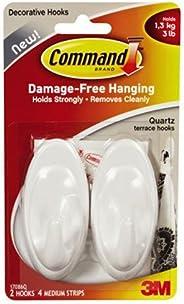 Command 17086Q Hooks, Plastic, White