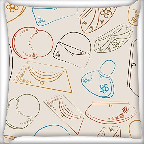 Handtasche Home Decor Werfen Sofa Auto Kissenbezug Kissen Fall 30,5x 30,5cm (Handtasche Rosa Bestickte)