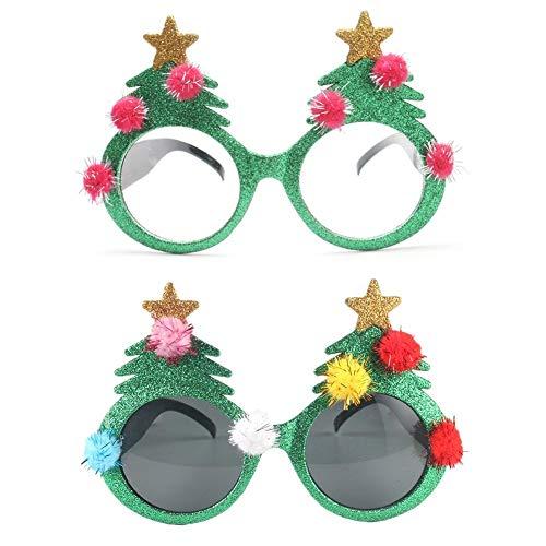 Weihnachten lustige Gläser, Party Brille Weihnachtsbaum Urlaub Party Supplies für Weihnachten Wild Party Dance Ball Crazy Parties