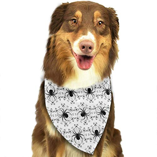 Wfispiy Black Spider Pet Dog Bandanas Triangle Bibs Scarf Accessories for Medium to Large ()