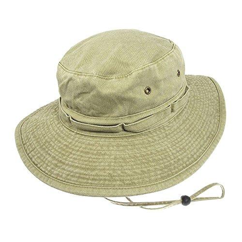 Village Hats Chapeau Bob Boonie Pliable en Coton Khaki