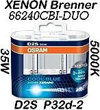 Osram D2S 35W Cool Blue Intense Xenarc 5000K 2er Set 66240CBI-HCB - BMW 5 Limousine / Touring (E39) 11/95-06/03 (Touring (E39) bis 05/04)