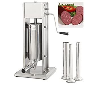 5l Vertical Commercial Sausage Stuffer 15lb Two Speed Stainless Steel Meat Press by Meat Grinders