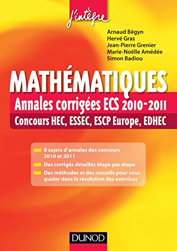 mathmatiques-annales-corriges-ecs-2010-2011-concours-hec-essec-escp-europe-edhec-concours-ecoles-d-39-ingnieurs
