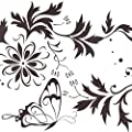 LedChoice Modern Art Decals Sticker Butterfly Flowers Wall Decals Living Room Bedroom Removable Vinyl Wall Stickers Murals for Home Decoration by TheBigThumb : everything five pounds (or less!)