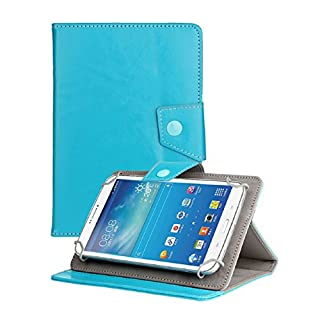 Atdoshop Universal Crystal Leather Stand Case Cover for Android Tablet 7 inch (Light blue)