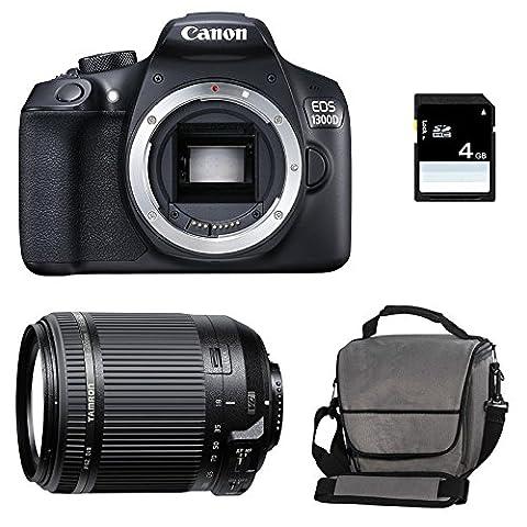 CANON EOS 1300D + TAMRON 18-200 VC + Sac + Carte SD 4Go