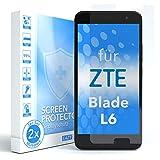 EAZY CASE 2X Panzerglas Bildschirmschutz 9H Härte für ZTE Blade L6, nur 0,3 mm dick I Schutzglas aus gehärteter 2,5D Panzerglasfolie, Bildschirmschutzglas, Transparent/Kristallklar
