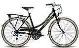 Legnano Ciclo 301 Ventimiglia, City Bike Donna, Nero/Verde, 48