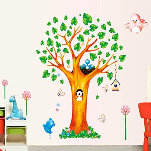 QIFDSVD Wandaufkleber Neuer Reizender Baum-Vogel-Kinderzimmer-Haushalts-Verzierungs-Wand-Stock-Beweglicher Stock Auf Der Wand