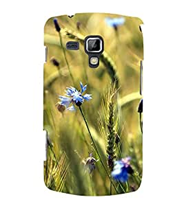 Blue Flowers 3D Hard Polycarbonate Designer Back Case Cover for Samsung Galaxy S Duos S7562
