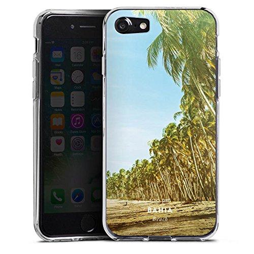 Apple iPhone X Silikon Hülle Case Schutzhülle Palmen Urlaub Strand Silikon Case transparent