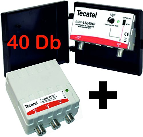 KIT AMPLIFICADOR MASTIL TECATEL 40DB UHF AMP-LTE404