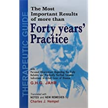Therapeutic Guide: Forty Years Practice by George Heinrich Gottlieb Jahr (1999-06-30)