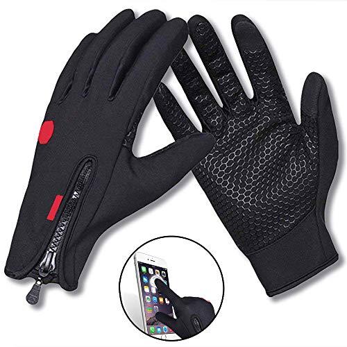 WENTS Warm Touchscreen Handschuhe Outdoor Touchscreen Outdoor Gloves Damen Herren Rutschfest Winddicht schwarz Fitness Camping Wandern Reiten Bergsteigen Perfekt für Herbst oder Frühling