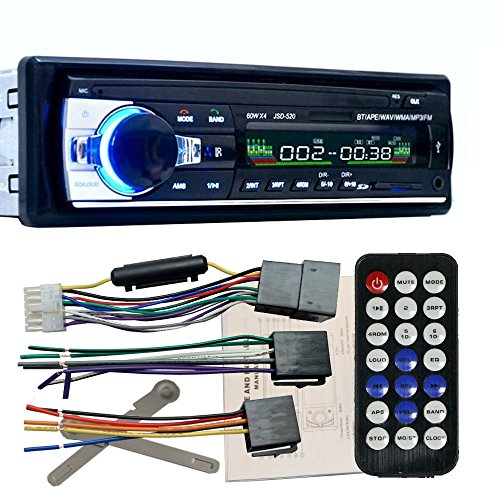 zetong Autoradio MP3 Tuner PLL 50 W x 4 Slot für SD Karte/Port USB Auto Empfänger Radio FM Stereo MP3 Audio-Player Bluetooth Halterung Telefon mit USB/SD MMC Port denn Electronics in-dash 1 DIN modèle 520
