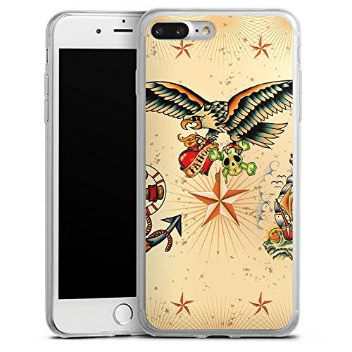 Apple iPhone 8 Slim Case Silikon Hülle Schutzhülle Schiff Anker Tattoo Silikon Slim Case transparent
