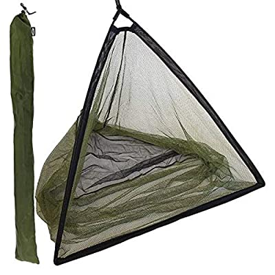 "42"" INCH CARP FISHING LANDING NET WITH STINK BAG SPREADER BLOCK - In Black & Green With a Deluxe Feel and Finish by NGT"