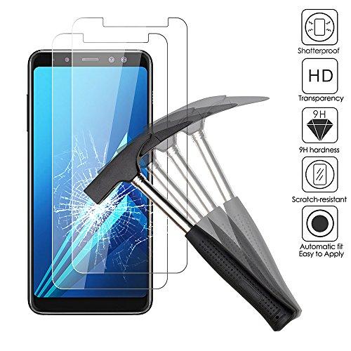 2 x Samsung Galaxy A8 2018 Verre trempé Protecteur d'écran, EJBOTH téléphone Protection écran Haute définition cribler des Films protecteurs pour Samsung Galaxy A8 2018