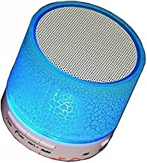 Raptas Wireless LED Bluetooth Speakers S10 Handfree with Calling Functions for All Android & iPhone Smartphones