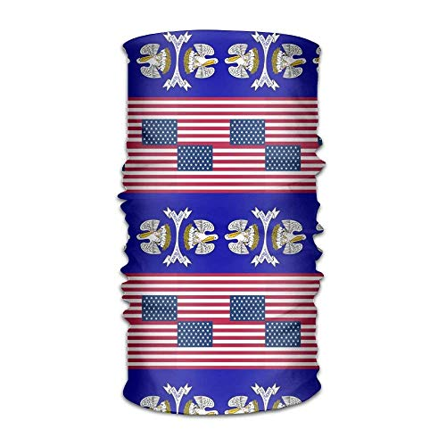 KENTONG Hill Unisex Usa Louisiana Flag Multifunctional Bandanas Sweatband Elastic Turban Headwear Headscarf Beanie Kerchief -