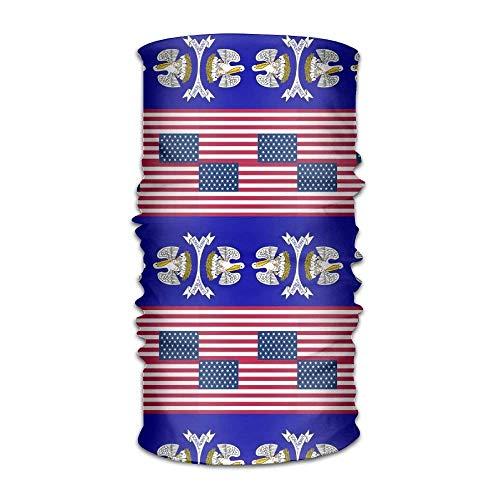 KENTONG Hill Unisex Usa Louisiana Flag Multifunctional Bandanas Sweatband Elastic Turban Headwear Headscarf Beanie Kerchief Usa Knot Turban
