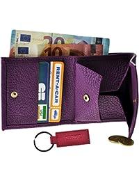 Charmoni - Charmoni® Porte Monnaie Portefeuille Femme Homme En Cuir Véritable Neuf Dambach
