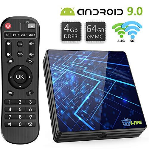Android TV Box 9.0【4GB RAM+64GB ROM】 Livebox TV Box RK3318 Quad-Core 64bit...