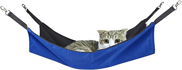 RCruning-EU Cat Hammock Waterproof Oxford Fabric Hanging Bed Mat for Ferret Rat Rabbit Small Dogs Animal Easy to Attach to a Cage-Rose 58x38cm