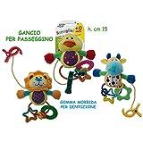 Teorema Giocattoli- Sonaglini Animaletti con Massaggia Gengive, Multicolore, 3.TE39163