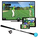 PhiGolf Mobile and Home Smart Golf Game Simulator with Swing Stick, Black