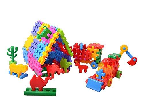 Bau Ziegel Bausteine 110 Stück Kinder Kreativität Waffeln