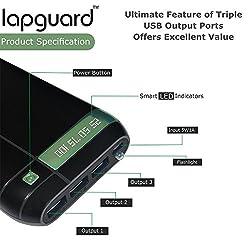 Lapguard LG803 High Capacity Best Power Bank 20800mAh For iPhone, mi, Lenovo, Samsung, Xiaomi, all mobiles, Tablets (Black-Green)