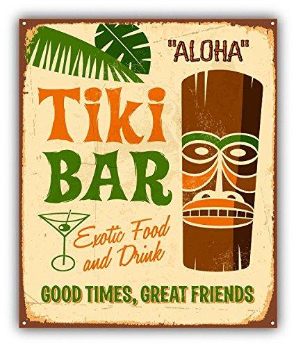 Tiki-Bar-Aloha-Party-Grunge-Metal-Sign-Alta-Calidad-De-Coche-De-Parachoques-Etiqueta-Engomada-10-x-12-cm
