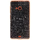 Coque Nokia Lumia N535,Cozy Hut® Coque Gel TPU Silicone Dessinez motif pour Nokia Lumia N535 - Housse Etui Protection Full Silicone Souple Ultra Mince Fine Slim, TPU avec Absorption de Choc, Etui Silicone Transparente, Très Légère / Ajustement Parfait / Coque pour Nokia Lumia N535 - formule mathématique