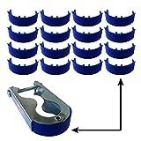 16x Trampolin awm® Schutzkappen für Befestigungsklammern Stangen Pfosten Netz Ersatzteile Zubehör