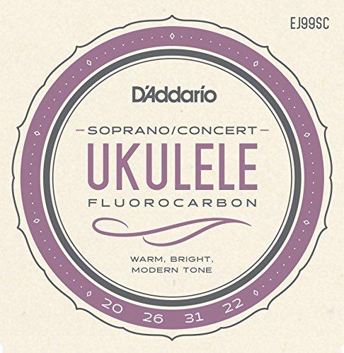 D'addario ej99sc pro-arté carbon set per ukulele soprano/concerto