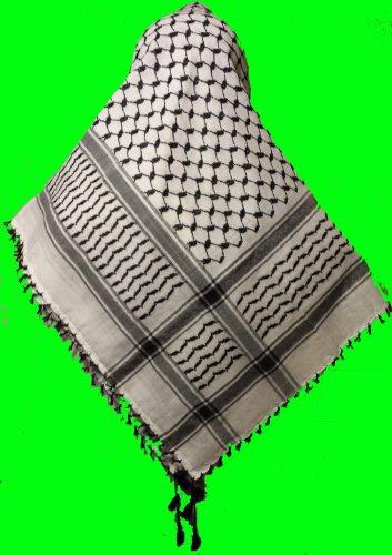Yasser Arafat Palestinian New Arab Authentic Shemagh Keffiyeh Scarf Men,
