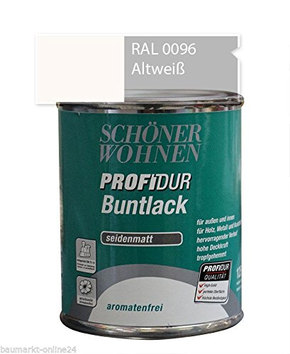 Profidur Buntlack 750 ml RAL 0096 Altweiß Seidenmatt Schöner Wohnen