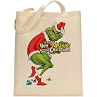 How Grinch Stole Christmas Movie Fan Custom Made Tote Bag