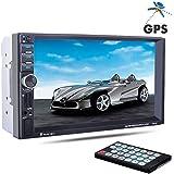 """PolarLander 7 """"pulgadas 2 Din pantalla táctil LCD de la radio de coche de apoyo al jugador GPS Bluetooth manos libres para 1080P Película cámara de visión trasera del coche de audio estéreo Mp5"""