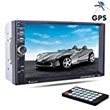PolarLander 7 Zoll 2 Lärm-LCD-Touch-Screen-Auto-Radio-Player-Unterstützungs-GPS Bluetooth Hands Free 1080P Film Rear View Camera Car Audio Stereo Mp5